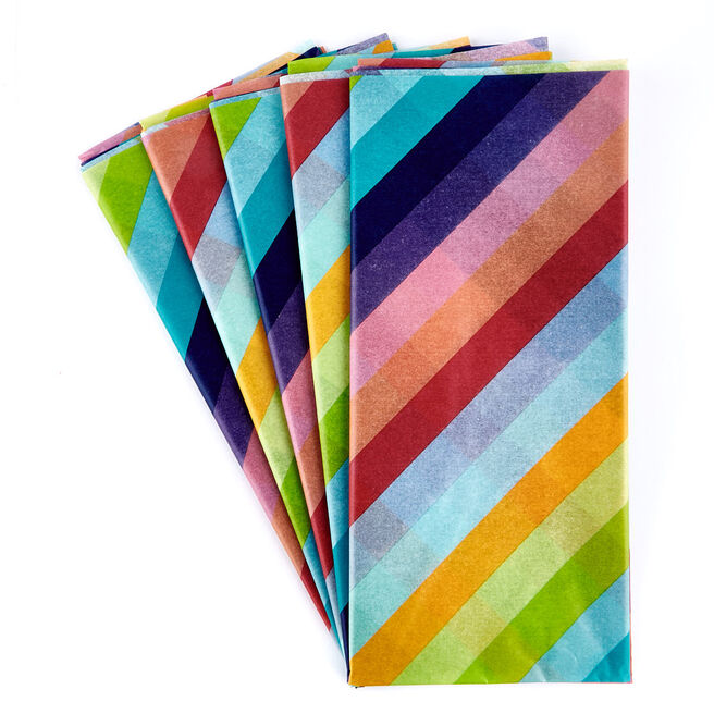 Rainbow Tissue Paper - 7 Sheets