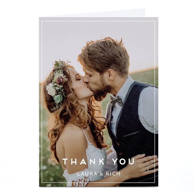 Personalised Wedding Photo Card - Thank You Portrait