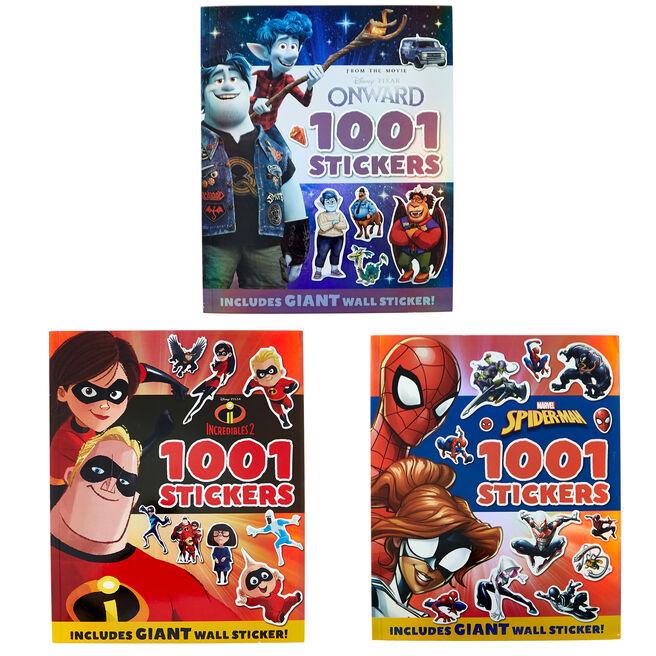 Disney's Onward, Incredibles 2 & Spider-Man Sticker Books - Set Of 3