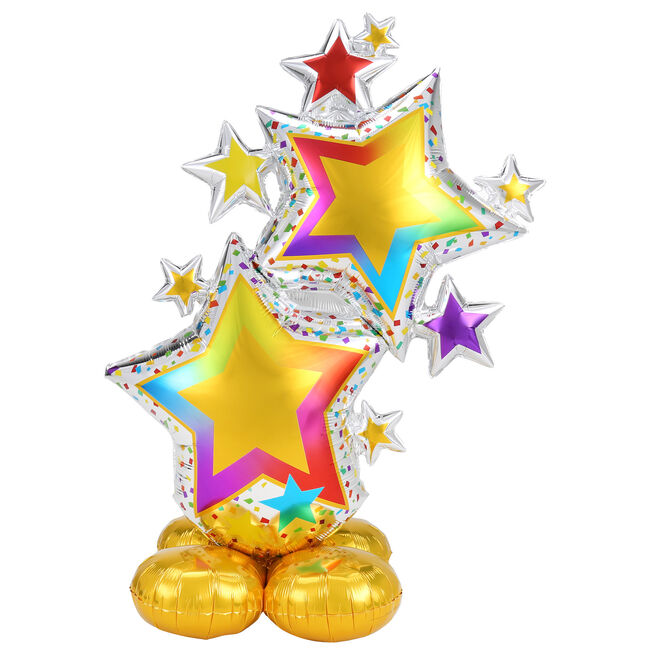 Large 59 Airloonz Colourful Star Cluster Balloon