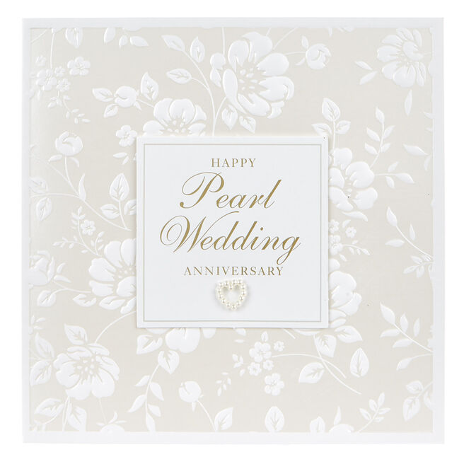 Boutique Collection Anniversary Card - Pearl Wedding
