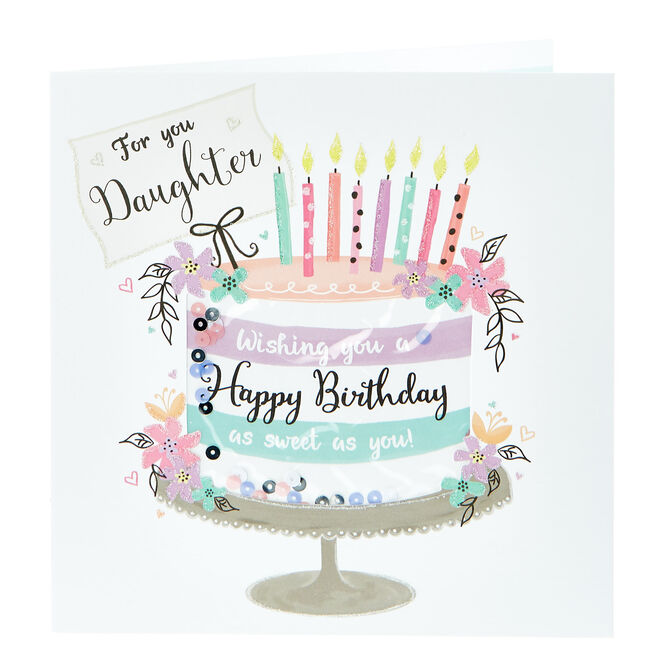 Boutique Collection Birthday Card - For You Daughter