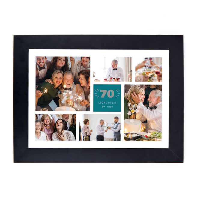 Personalised 70th Birthday Photo Print - Looks Great On You (Landscape)