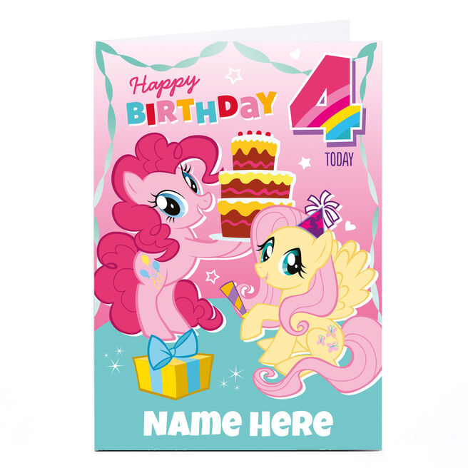 Personalised My Little Pony Card - 4 Today