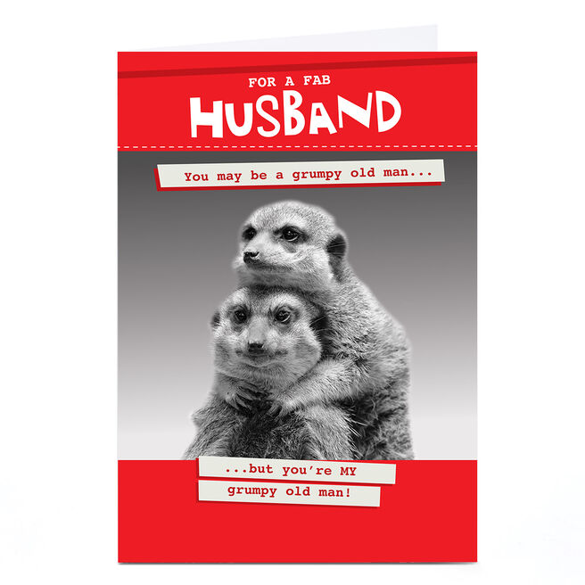 Personalised Quitting Hollywood Valentine Card- For a Fab Husband