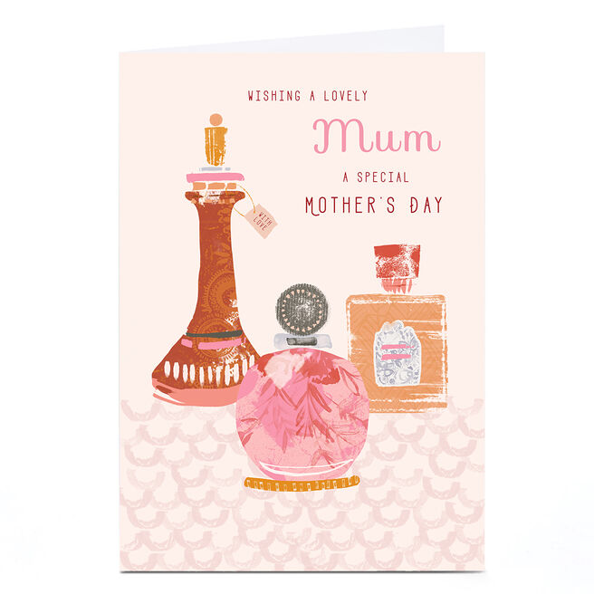 Personalised Rebecca Prinn Mother's Day Card - Perfumes