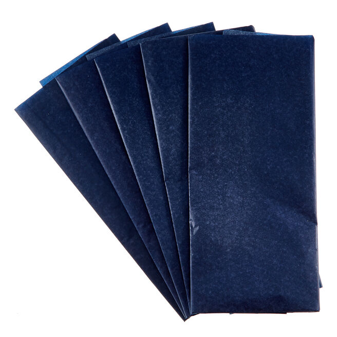 Navy Tissue Paper - 10 Sheets