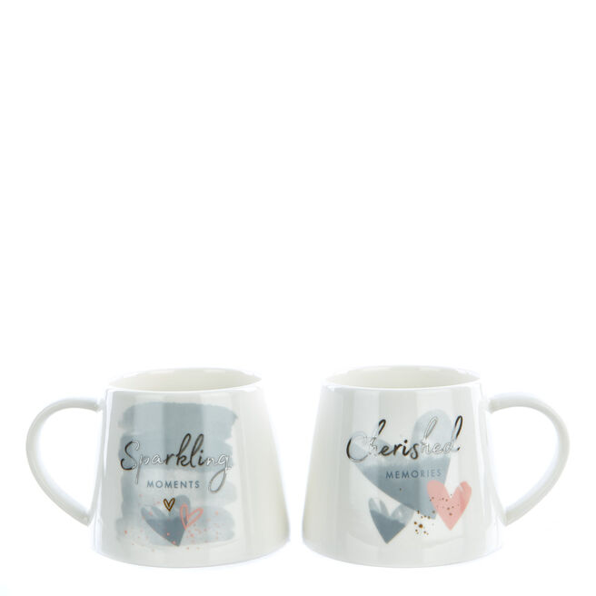 Perfect Together 25th Anniversary Twin Mug Gift Set