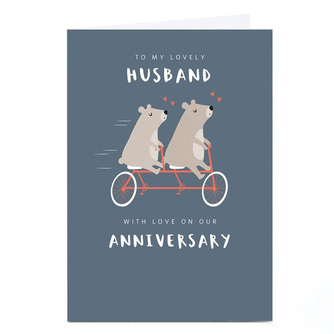 Personalised Klara Hawkins Card - Husband Bears