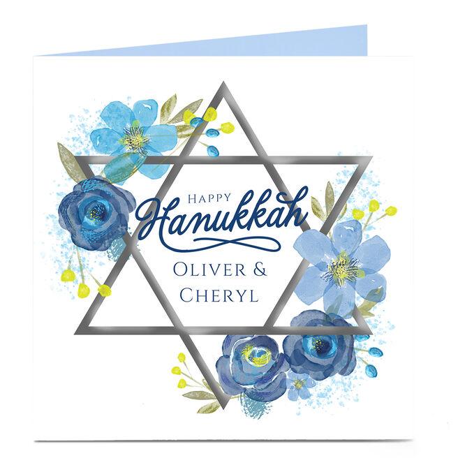 Personalised Hanukkah Card - Star Of David