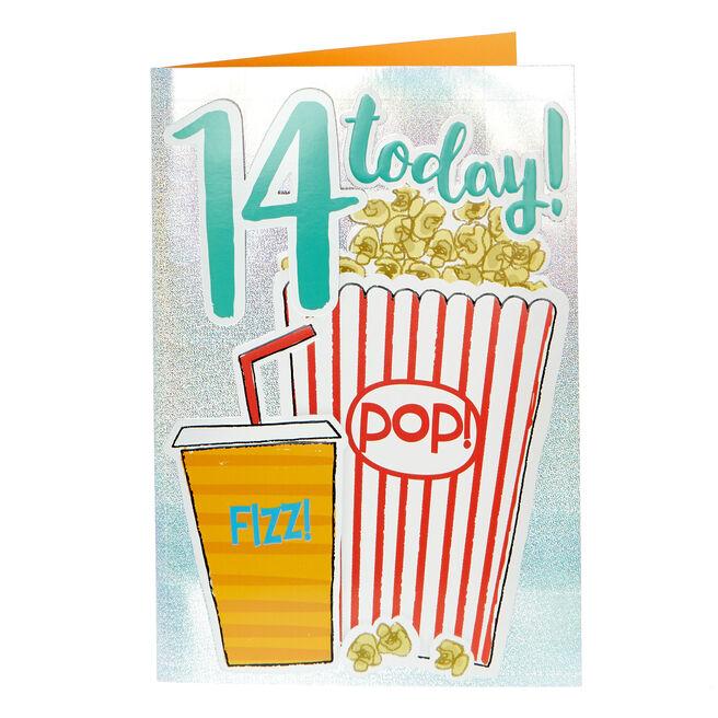 14th Birthday Card - Pop! Fizz!
