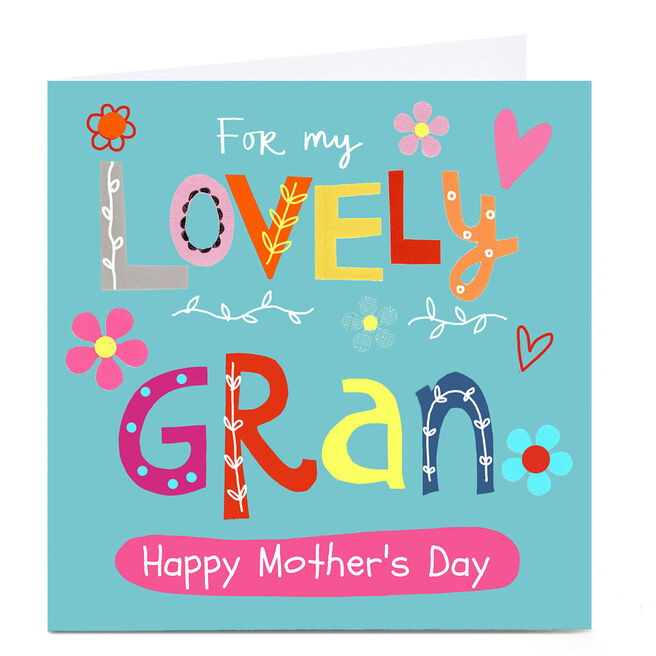 Personalised Lindsay Loves To Draw Card - Lovely Gran