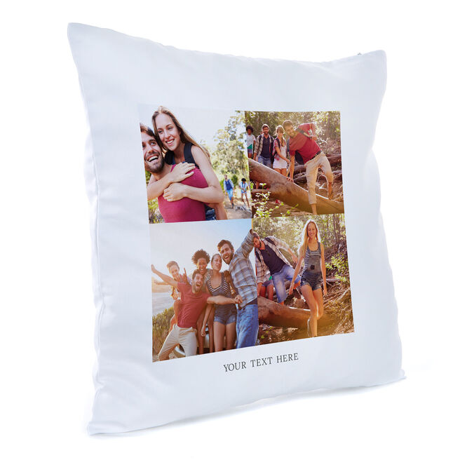 Personalised Photo Cushion - 4 Photos & Any Message