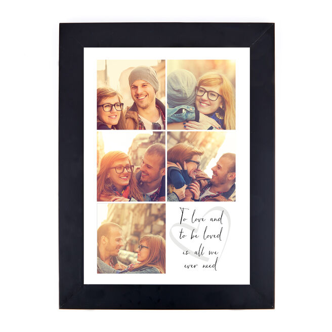 Personalised Valentine's Photo Print - To Love and To Be Loved