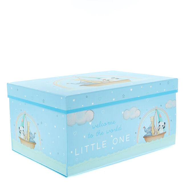 Magnetic Flat-Pack Baby Boy Gift Box