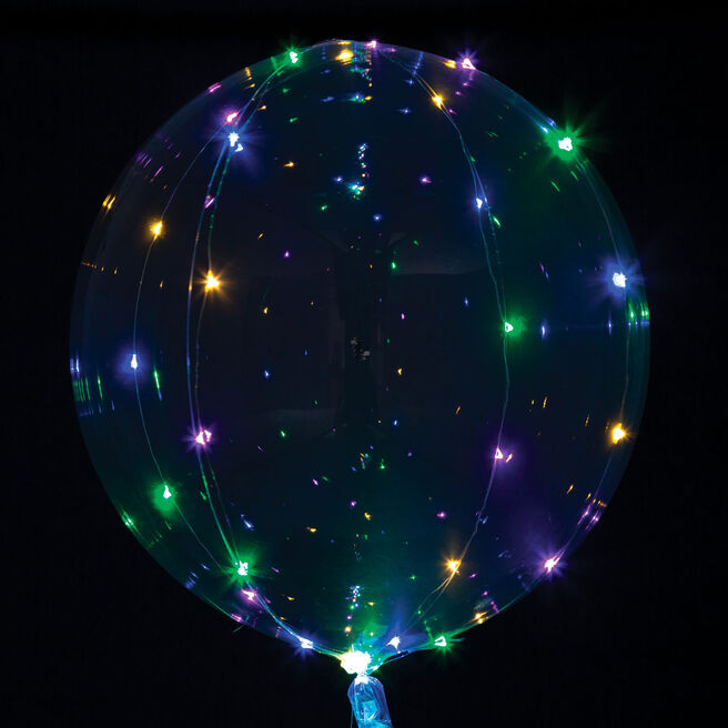 Crystal Clearz Multicolored 32-Inch LED Balloon | Card Factory