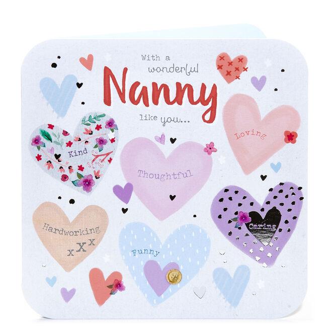 Birthday Card - A Wonderful Nanny