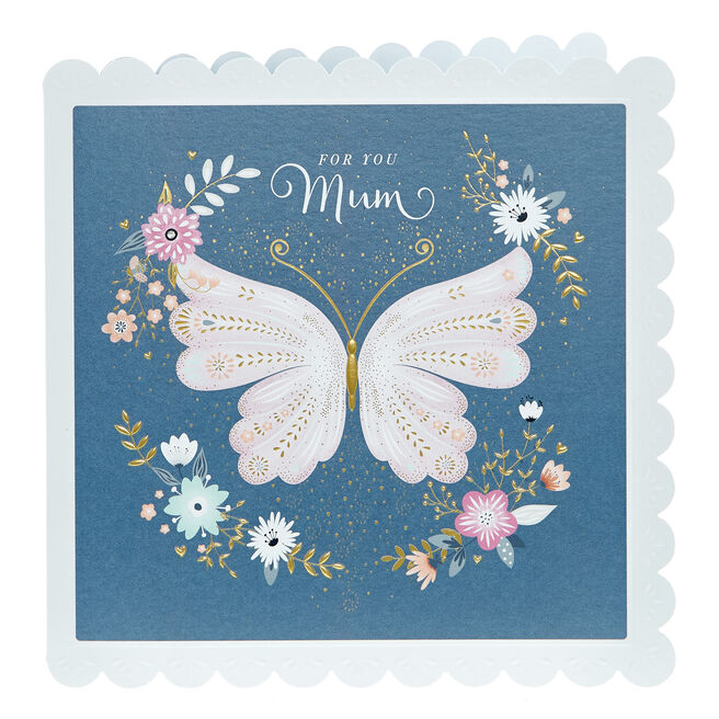 Mother's Day Card - For You Mum Butterfly