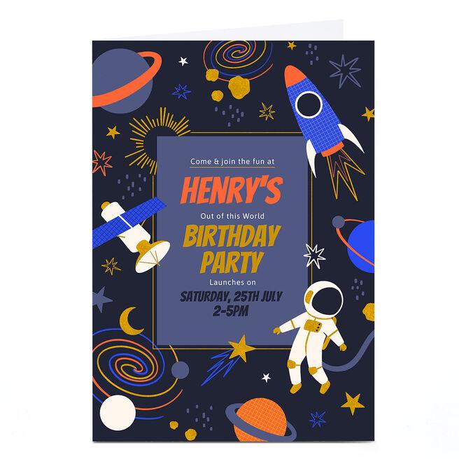 Personalised Birthday Card - Rocket Birthday