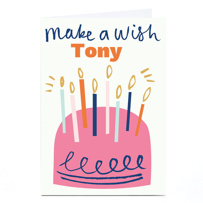 Personalised Ashley Le Quere Birthday Card - Cake
