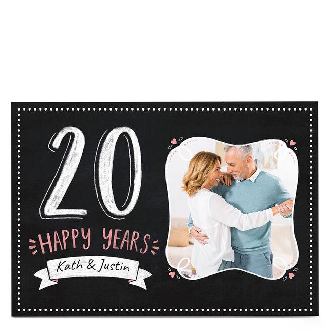 Photo Wedding Anniversary Card - 20 Happy Years