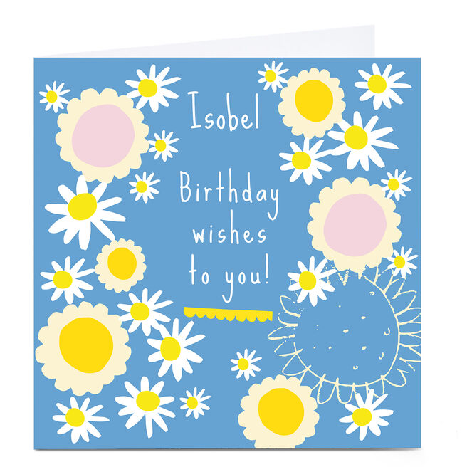 Personalised Squirrel Bandit Birthday Card - Wishes To You