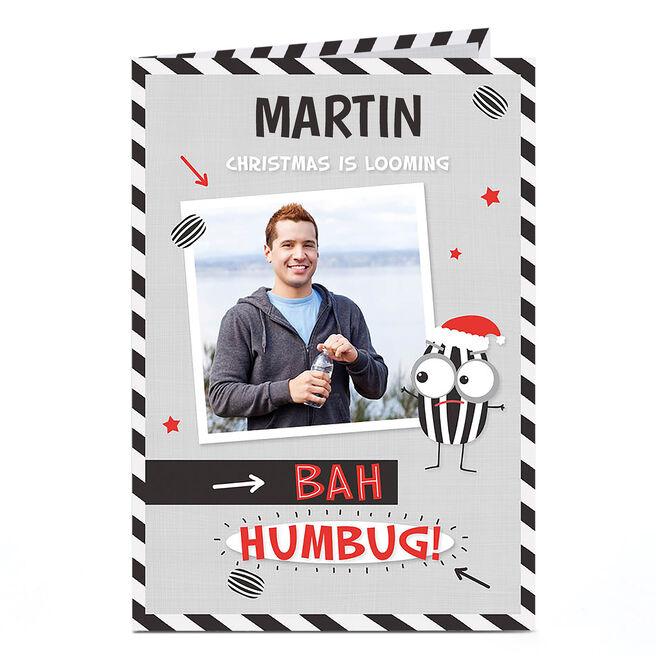 Photo Christmas Card - Bah Humbug!