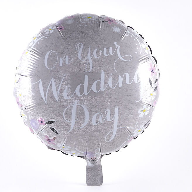 On Your Wedding Day Foil Helium Balloon