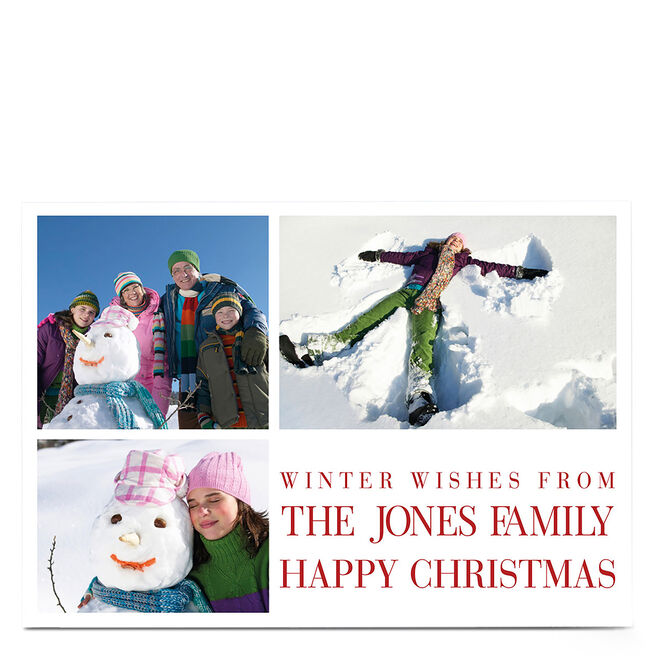 Multi Photo Christmas Card - Winter Wishes From