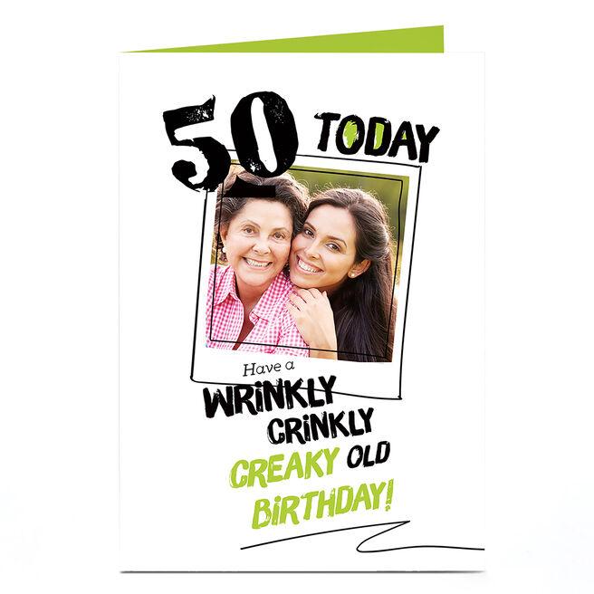 Photo Any Age Birthday Card - Crinkly, Creaky
