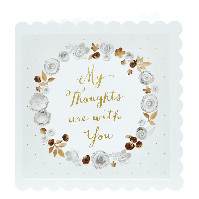 Thinking Of You Card - My Thoughts Are With You