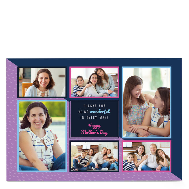 Personalised Mother's Day Photo Card - Thanks for being Wonderful