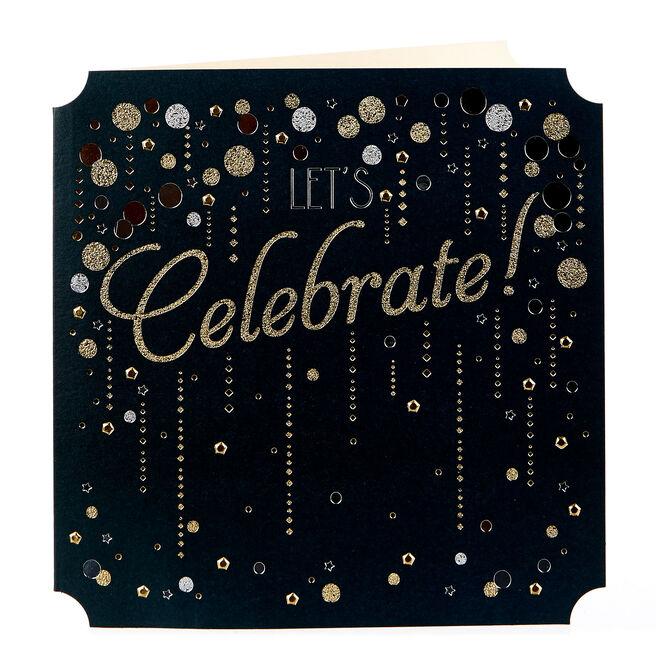 Blank Card - Let's Celebrate