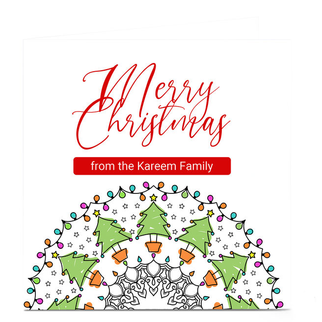 Personalised Roshah Designs Christmas Card - Holly