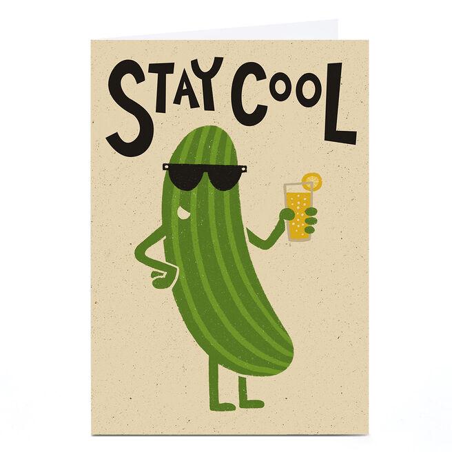 Personalised Tin Bath Card - Cucumber