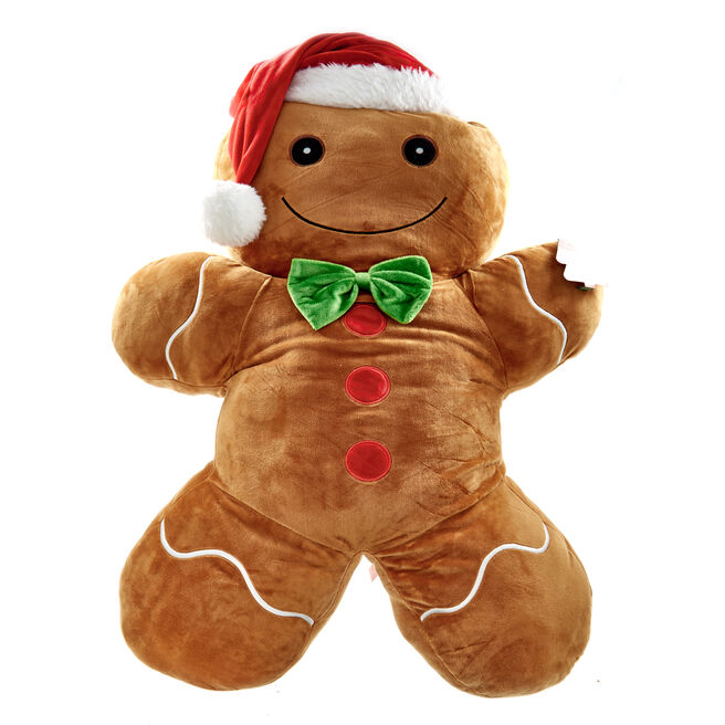 Giant Gingerbread Man Christmas Soft Toy