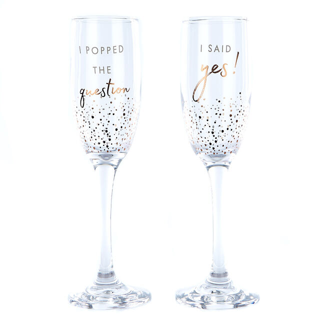 Perfect Together Engagement Champagne Flute Gift Set