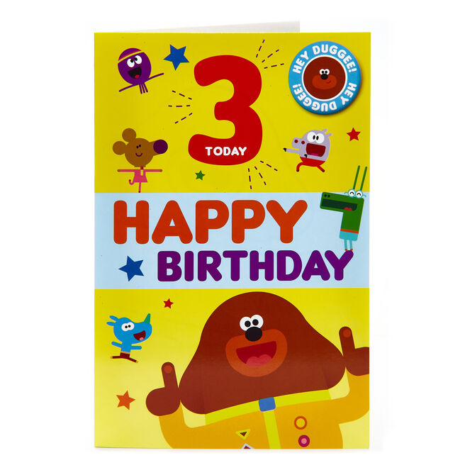Hey Duggee 3rd Birthday Card