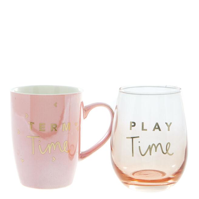 Thank You Teacher Mug & Glass Gift Set