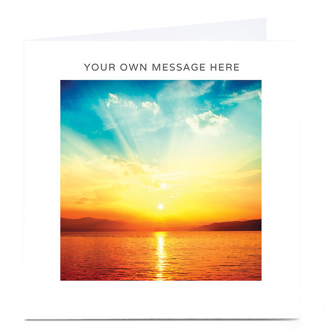 Personalised Card - Sunset