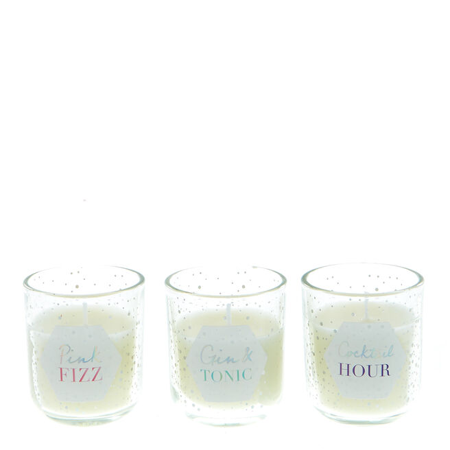 Clink Clink O'clock Mini Scented Candles - Set Of 3