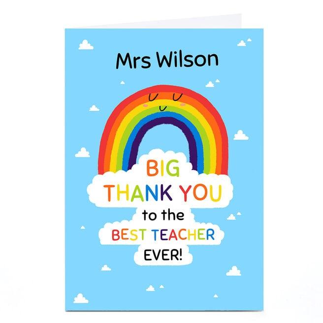 Personalised Card - HewMa Rainbow Tahnk You