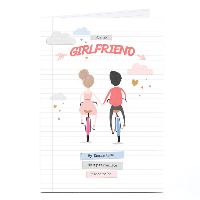 Personalised Card - For My Girlfriend, Bicycles