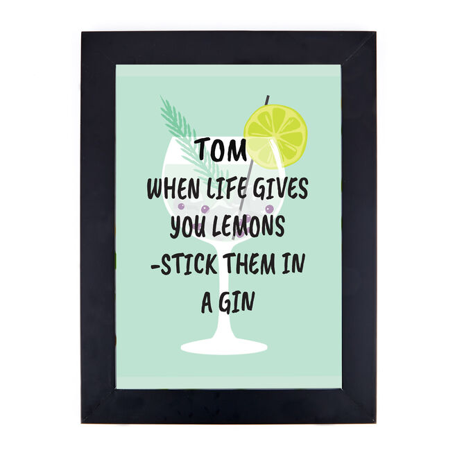 Personalised Gin Print - When Life Gives You Lemons