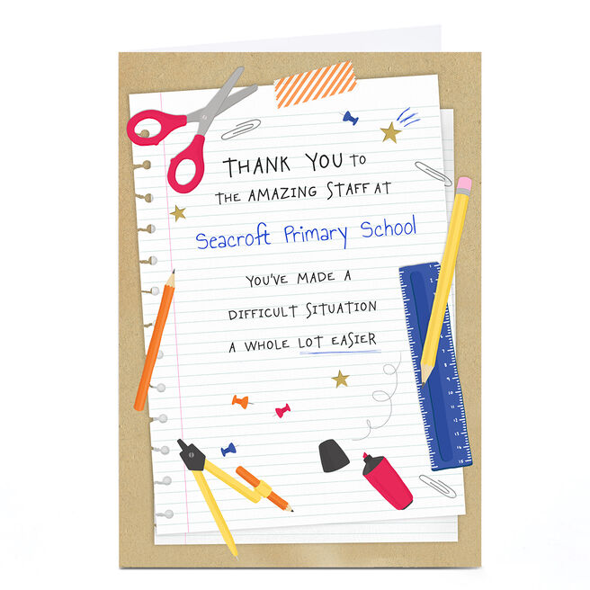 Personalised Thank You Card - A Whole Lot Easier