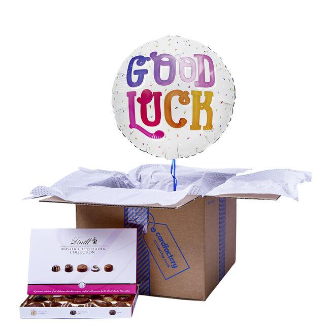 Colourful Good Luck Balloon & Chocolate Box
