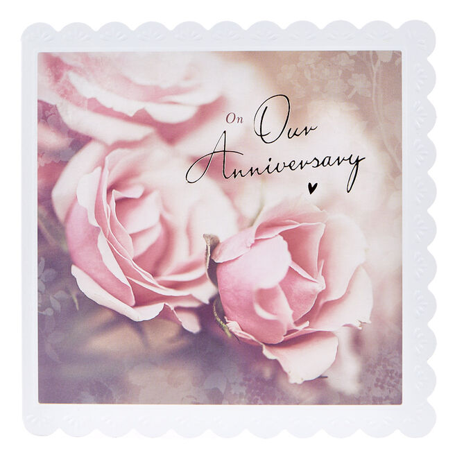 Anniversary Card - Pink Roses