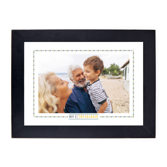 Personalised Father's Day Photo Print - No 1, Top Grandad