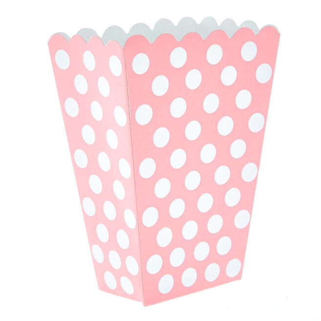 Powder Pink Dotty Treat Boxes - Pack Of 8