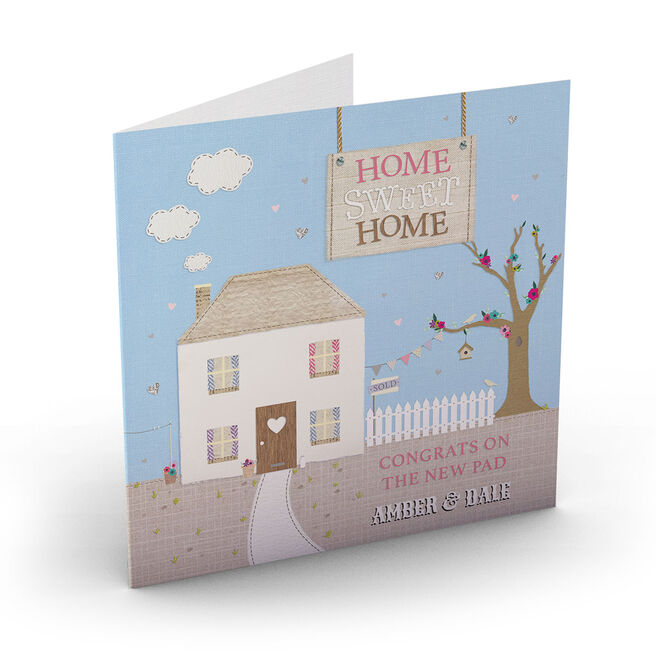 Personalised New Home Card - Home Sweet Home